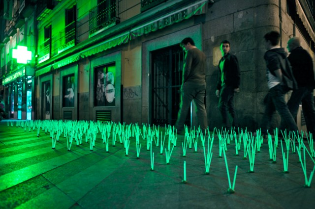 Pharmacy herbs glowing grass installation highlights light pollution pharmacy herbs by luzinterruptus mozeypictures Image collections
