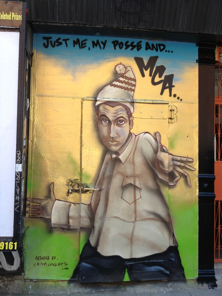 Adam mca yauch tribute mural in the east village by cram for Beastie boys mural