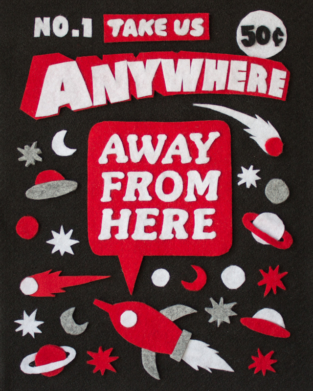 Anywhere - Felt Collage by Jacopo Rosati