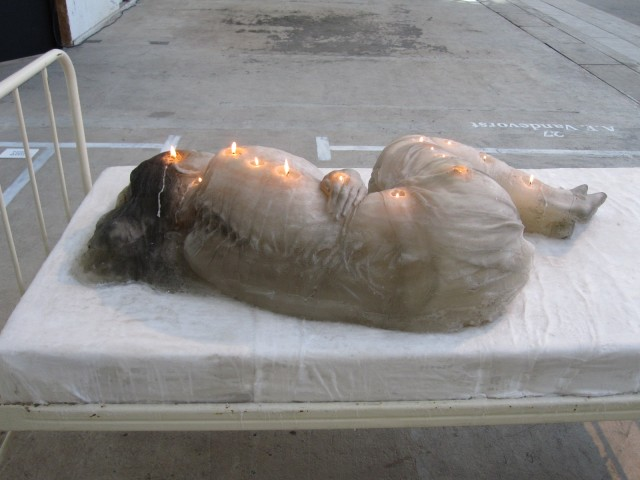 Wax candle sculpture by A. F. Vandevorst