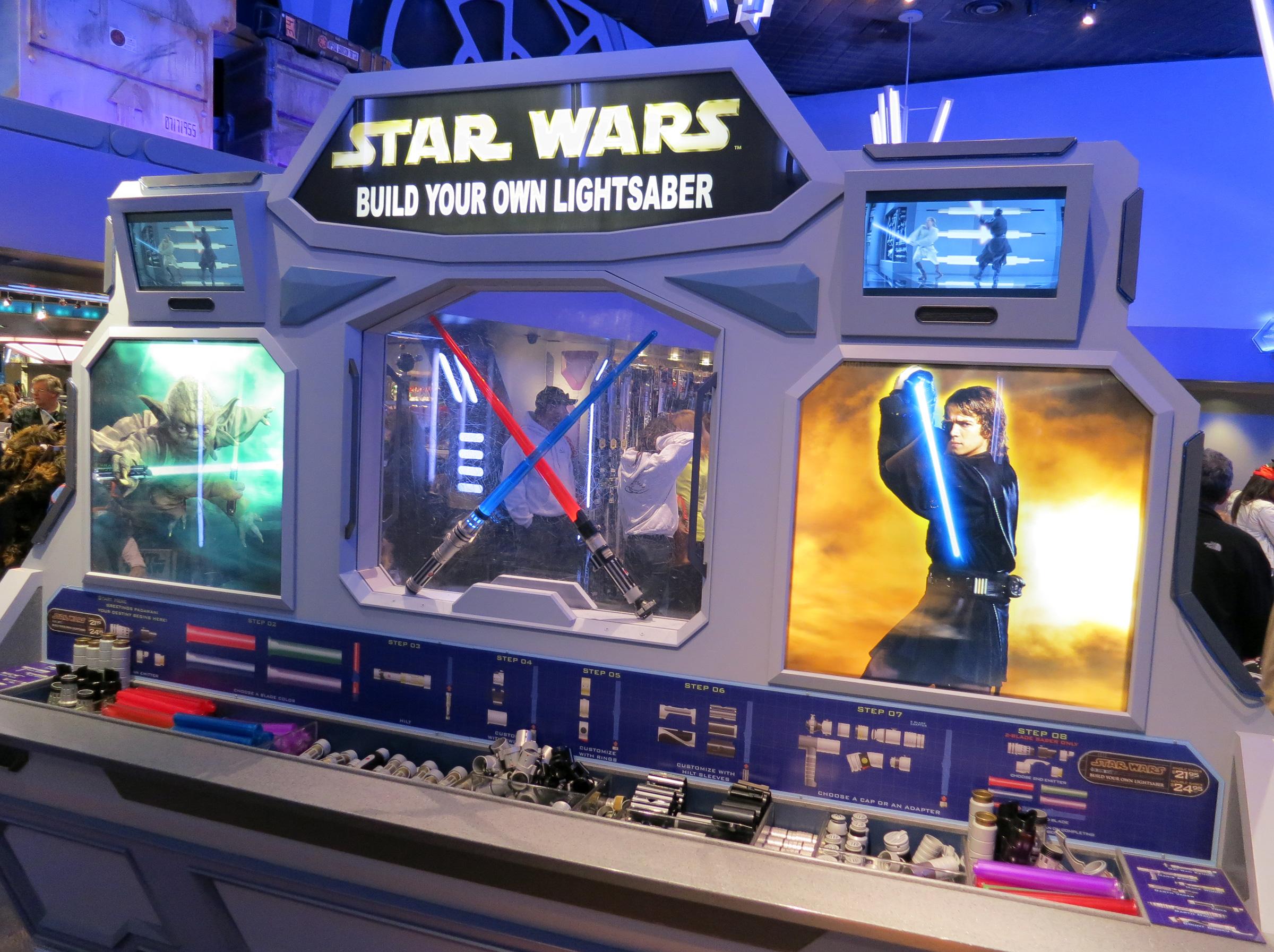 build your own star wars lightsaber at disneyland. Black Bedroom Furniture Sets. Home Design Ideas