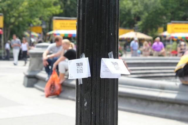 Truth or dare in Washington Square Park