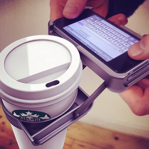 UpperCup iPhone Cupholder