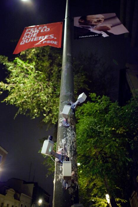 Politicians Under Video Surveillance by Luzinterruptus