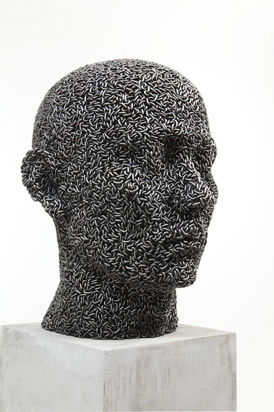 Welded chain link sculptures by Young-Deok Seo
