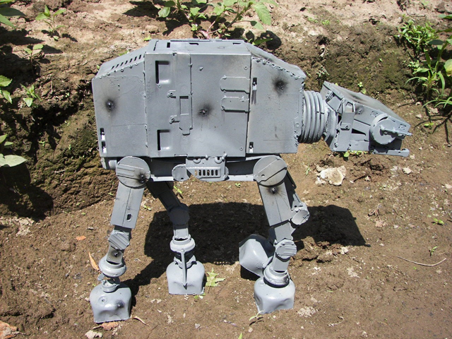 Imperial Walker AT-AT Made From Recycled Computer Parts