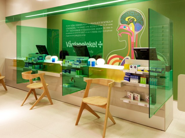 Anatomical design scheme for Swedish pharmacy by Kari Moden