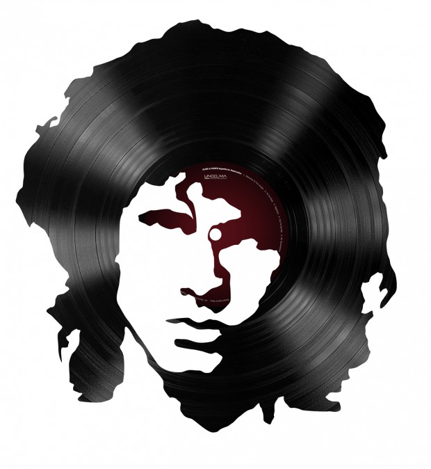 Cut vinyl record portraits by Alejandro de Antonio