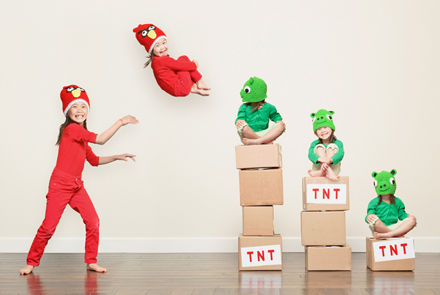 Photographer Jason Lee Turns His Kids Into Angry Birds