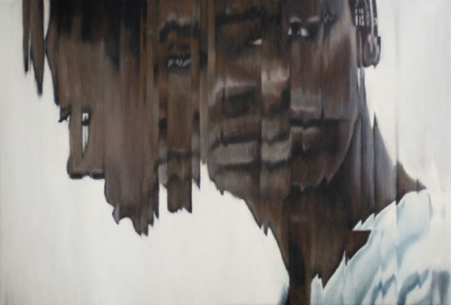 Distorted paintings by Jens Hesse