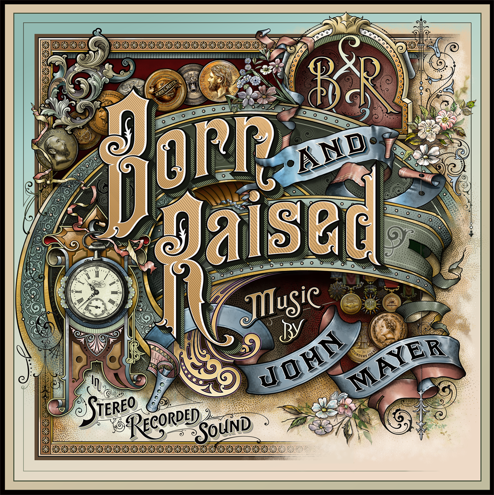 "John Mayer Cool Painting: Cover Art Design Process For John Mayer's Album ""Born And"