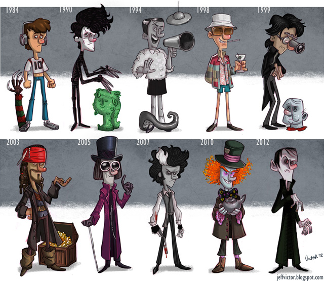 Johnny Depp Evolution