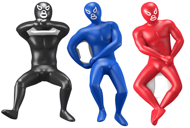 Kikkerland Luchador Bottle Openers, Assorted Colors and Styles