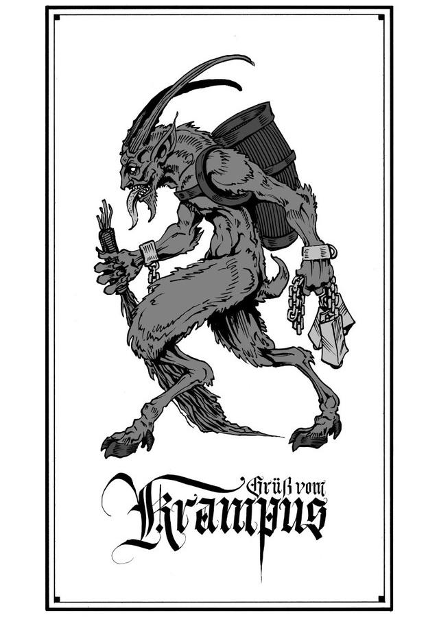 Grüß vom Krampus print by Michael Mauldin