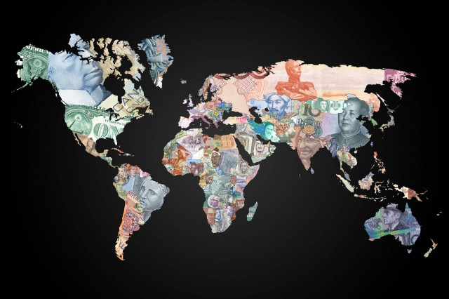 World map of banknotes featuring the currency of each country gumiabroncs Choice Image