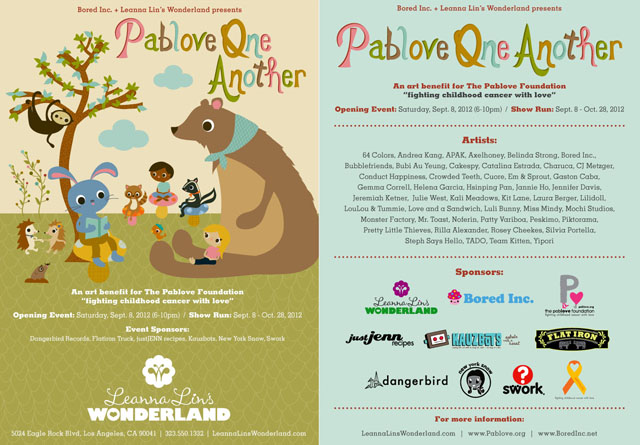 "Leanna Lin's Wonderland Presents ""Pablove One Another"" Art Benefit Event"
