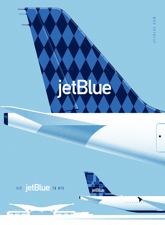 Vintage ad posters for JetBlue