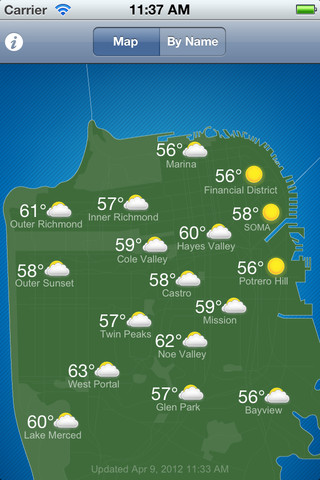 SF Climates by Baker Beach Software