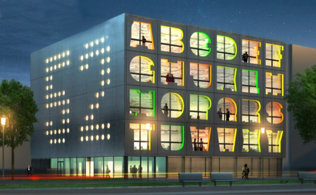 the alphabet building by mvrdv
