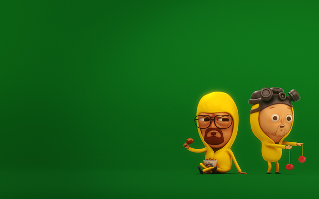 Mike Mitchell's Walt & Jesse (Green Wallpaper) by SLiD3