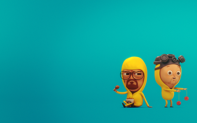 Mike Mitchell's Walt & Jesse (Blue Wallpaper) by SLiD3