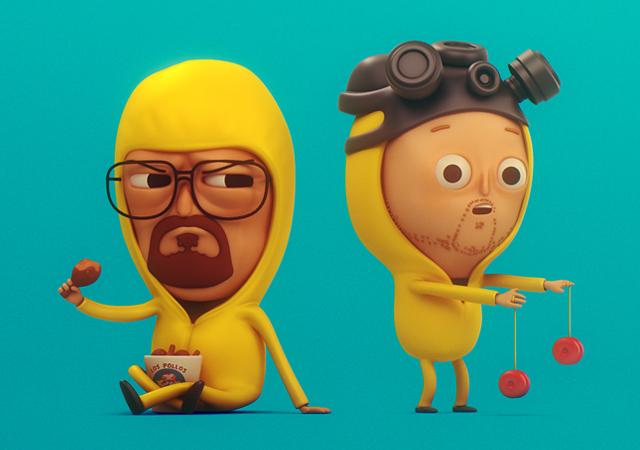 3d renderings of mike mitchell s original 2d breaking bad illustrations