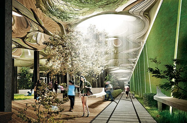 The Delancey Street Subway Low Line Park