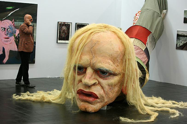 Klaus Kinski head sculpture by Paule Hammer