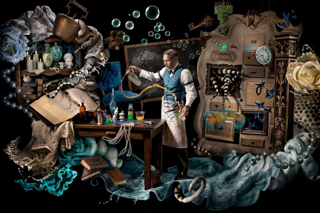"Portrait of artist Greg ""Craola"" Simkins, ""The Alchemist"" by Ransom & Mitchell"