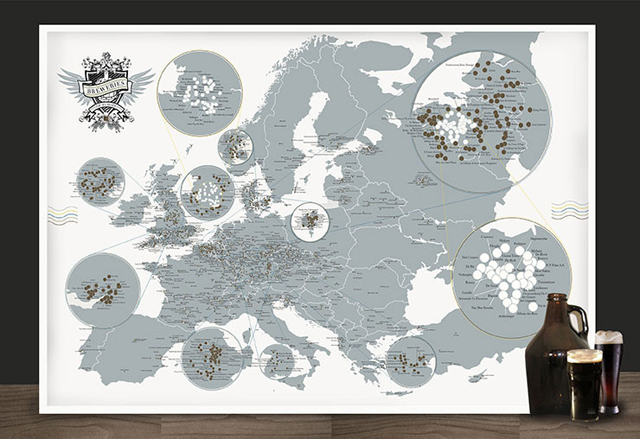 The Breweries of Europe by Pop Chart Lab