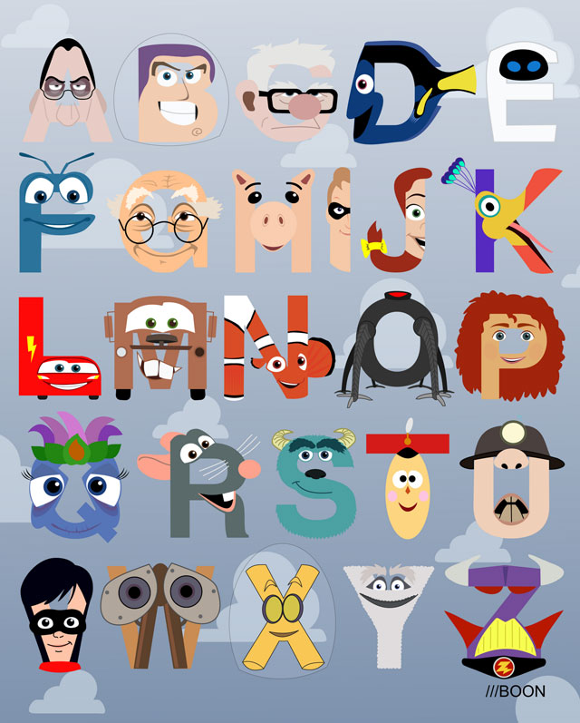 Toys That Start With B : P is for pixar a themed alphabet by mike boon