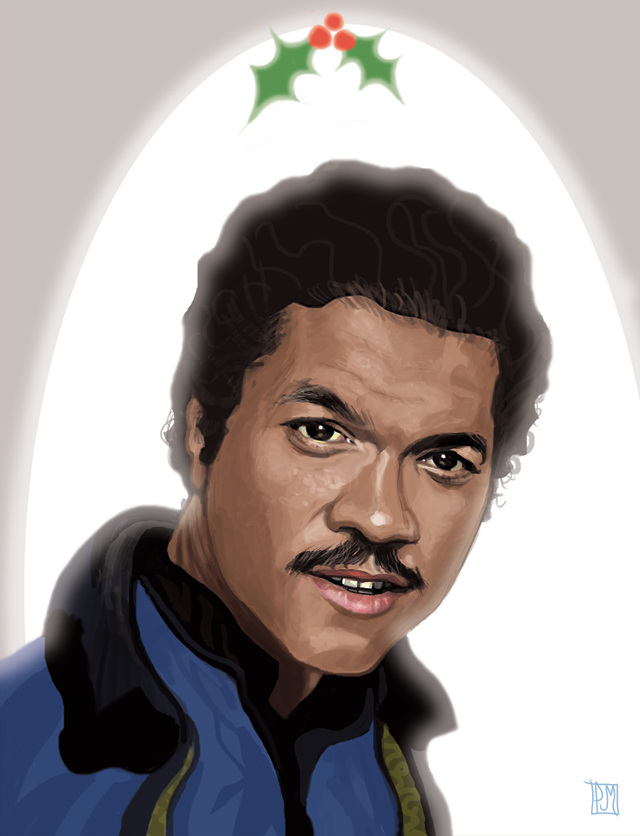 Star Wars Lando'ed on the Nice List Christmas Card