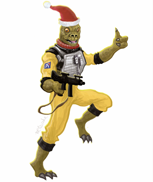 Star Wars Bossk Christmas Card