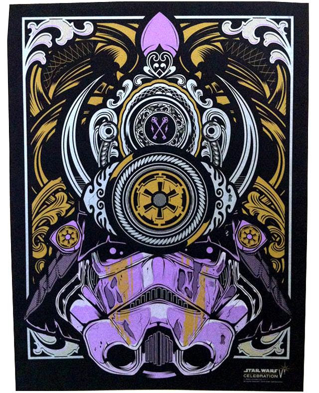 Samurai Trooper, Silk Screen Artist Proof by Joshua M. Smith / Hydro74