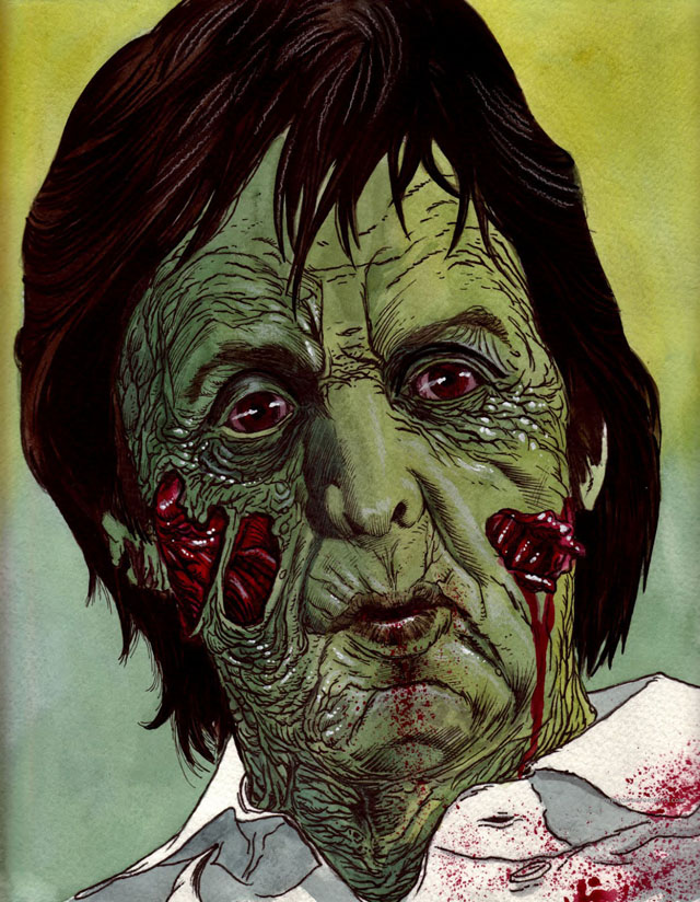 Paul McCartney Zombie by Rob Sacchetto