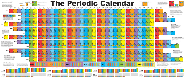 the periodic calendar the last wall calendar you will ever need