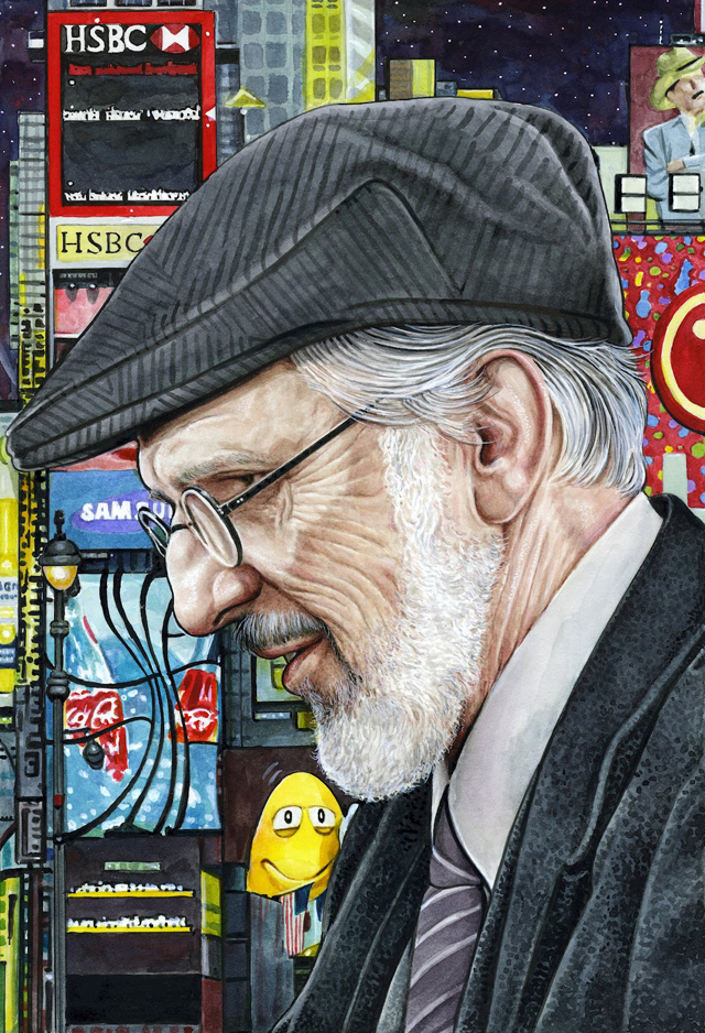 R.Crumb in New York by Drew Friedman