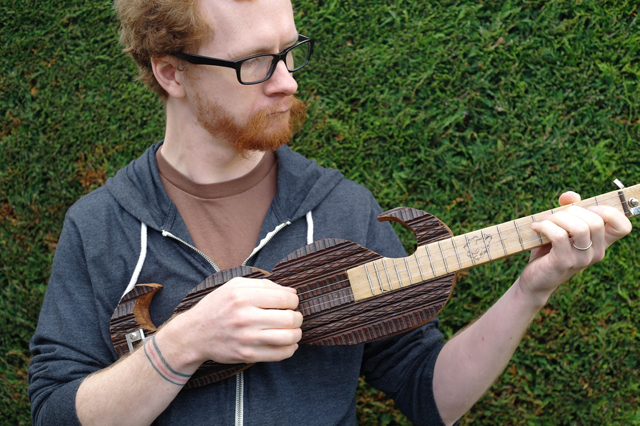 The Movember Moustache Guitar by Vulpestruments