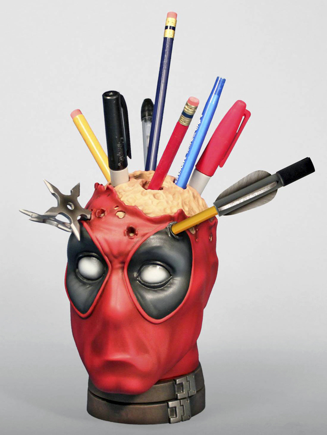 Deadpool Pencil Holder Desk Accessory