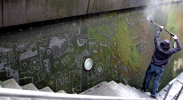 Pressure Washed Murals by Strook