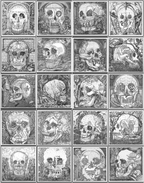 skull optical illusions fools orosz ship istvan artist illusion istvan sebastian skulls laughingsquid drawings brant 3d 15th