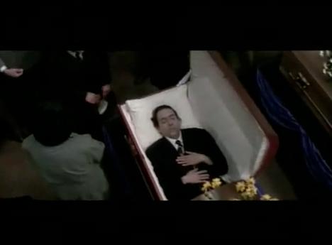 Tin Burton in a Coffin