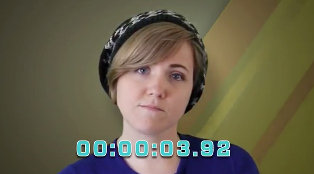 Hannah Hart Setting a World Record
