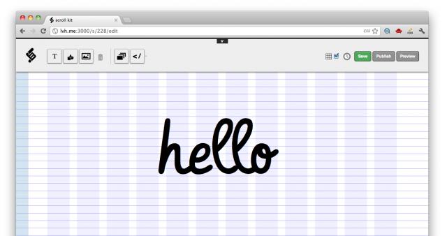 Scroll Kit, Intuitive Web Development Tool