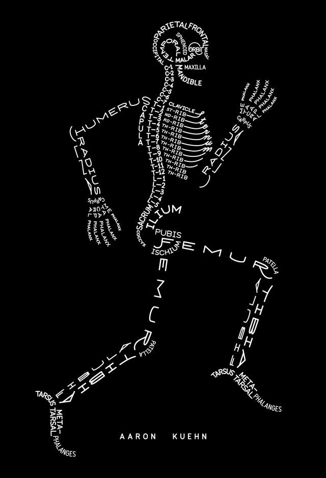 Skeleton Typogram A Human Skeleton Illustration Made Using The
