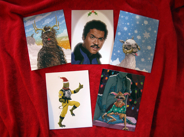 Star Wars Christams Cards by PJ McQuade