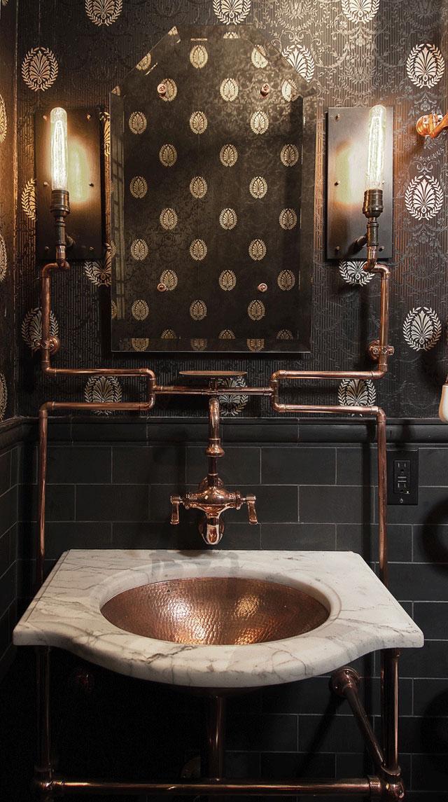 San francisco architect designs an elaborate steampunk for Bathroom design san francisco