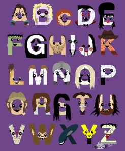 The Horror Icon Alphabet by Mike Boon
