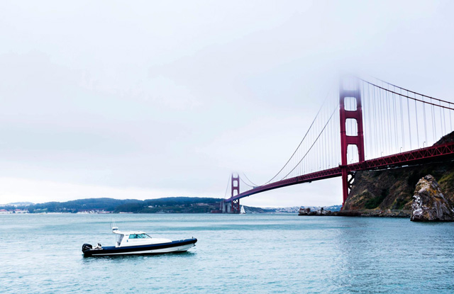 Water Taxi and the Golden Gate Bridge