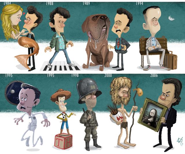 Tom Hanks Evolution